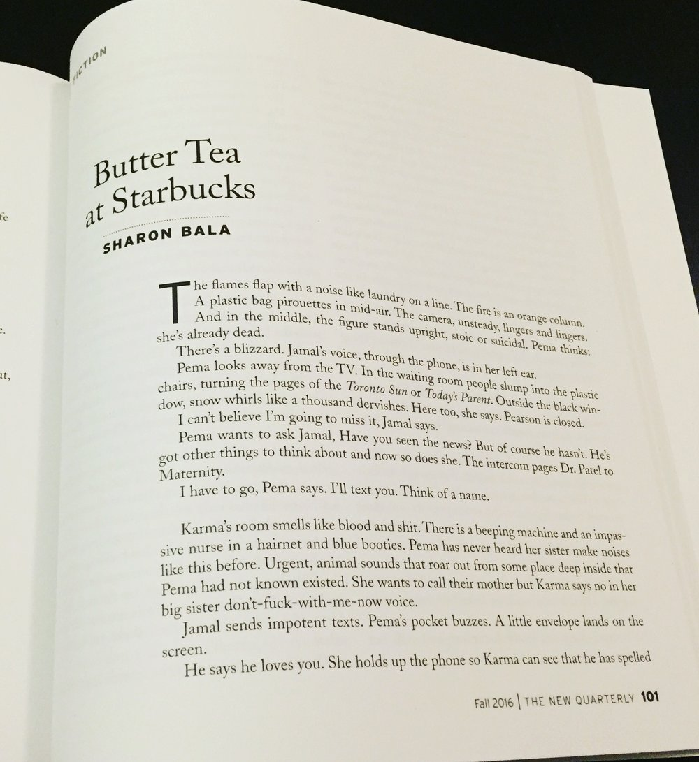 Butter tea by Sharon Bala