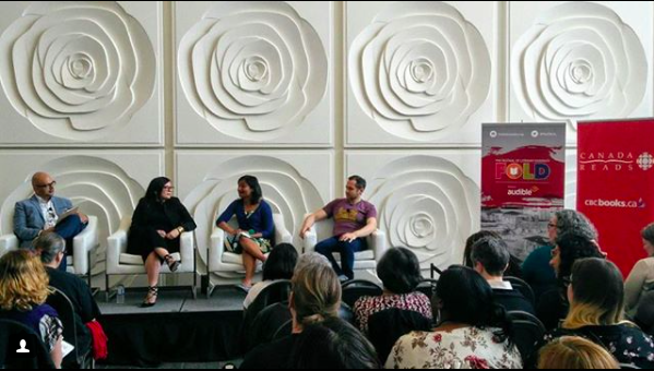Photo of the After Canada Reads panel from The Fold's Instagram (@the_fold)