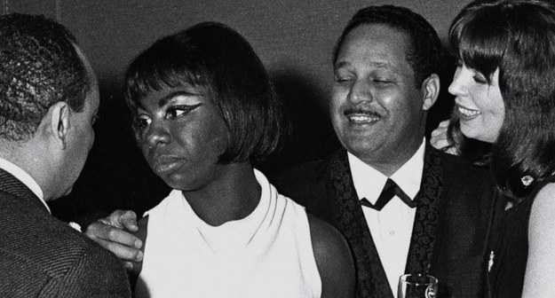 Nina Simone and husband Andrew Stroud (on her right)