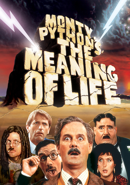 The Meaning of Life (1983), written by Monty Python, directed by Terry Gilliam & Terry Jones