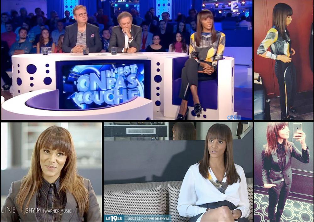 Émission - On n'est pas couché (France 2) : Shy'm a fait un passage très remarqué dans l'émission de Laurent Ruquier, qui a mis à l'honneur la création de Lucie Brochard. võ.