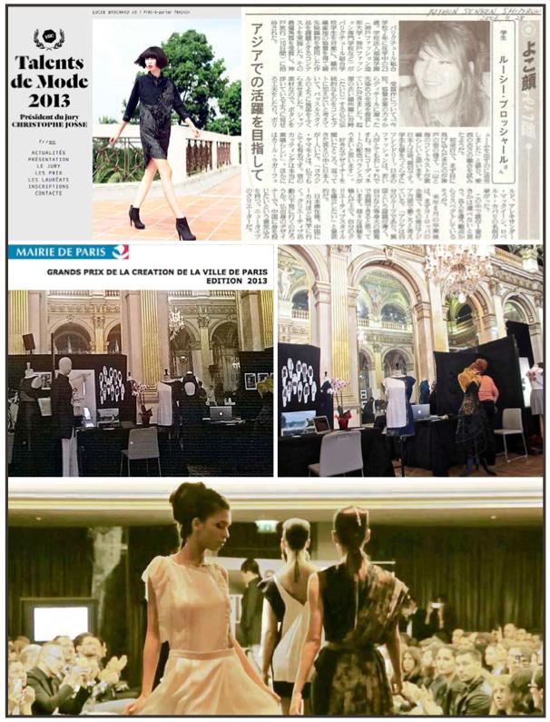 Concours National des Jeunes Créateurs : 1 er prix Année : 2014 Concours Grand Prix de la Création de la ville de Paris : Finaliste Année : 2013 Concours «Talent de Mode» : Finaliste Année : 2013 Concours Kobe GHGF-ECSP : 1 er prix Année : 2006