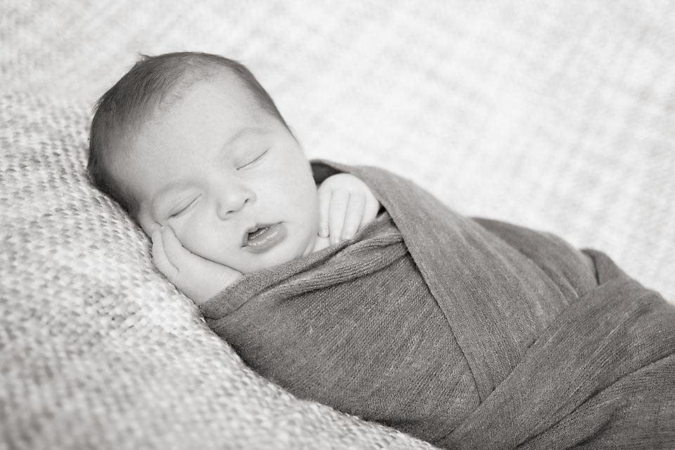 Newborn Sleeping Wrapped