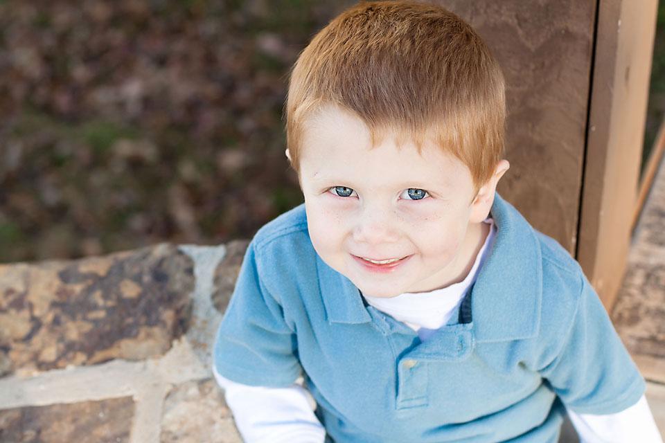 Little Boy Head Shot Portrait