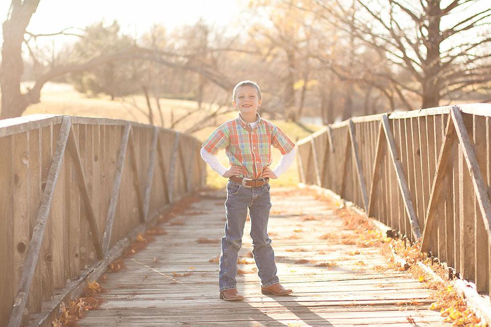 Family Photos Boy on Bridge