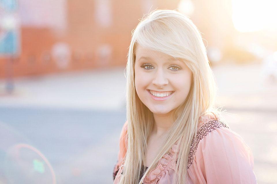 Senior Girl Photo Backlit Haze Head Shot