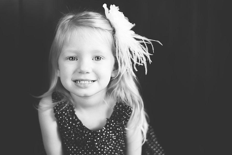 Sweet Little Girl in Blue Dress
