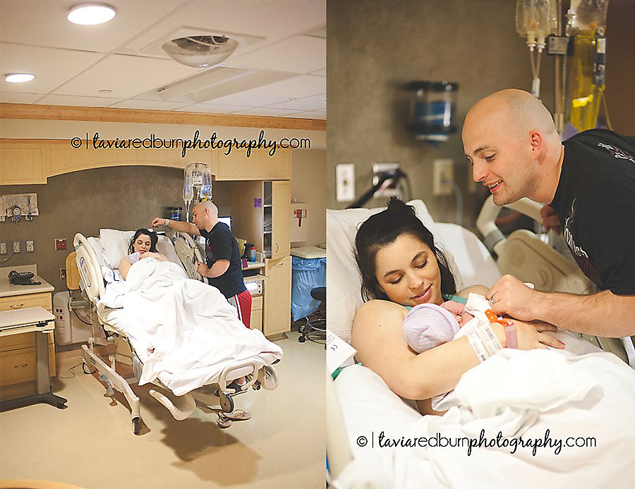 Beautiful photos of the new parents after birth.
