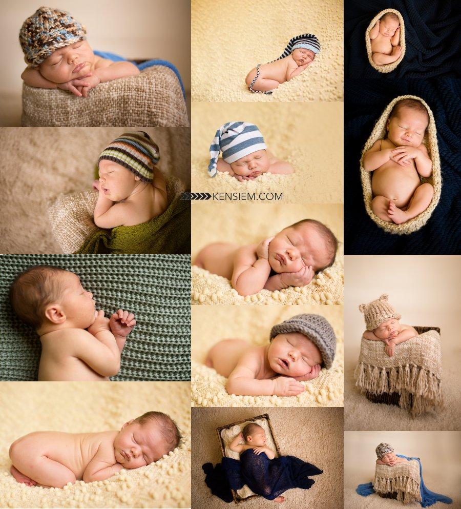 Adorable newborn baby boy photos.