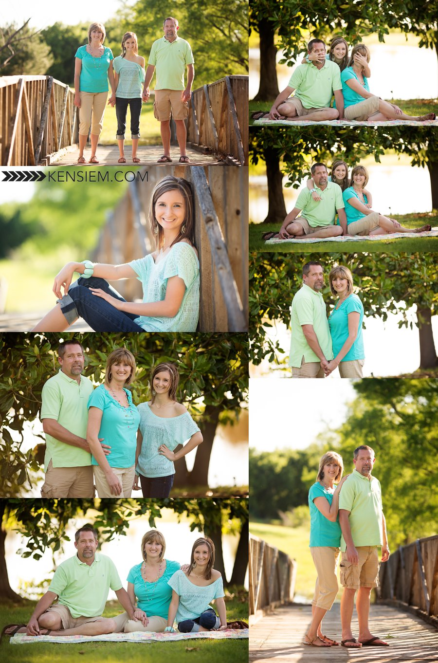 Family Photography. Family of Three Poses. Outdoor family portraits of family with teen. www.kensiem.com | Winchester Virginia Photographer