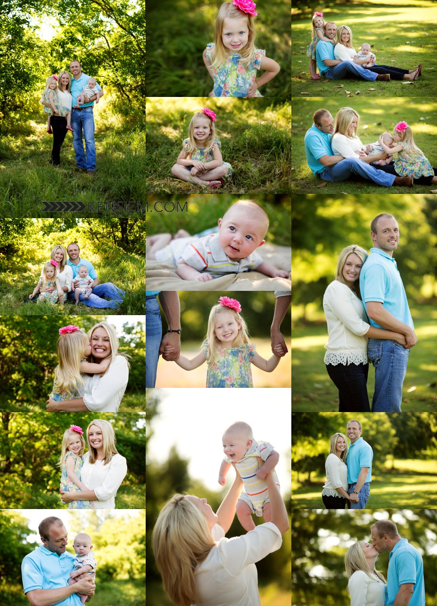 Family Photography. Family of Four Poses. Outdoor family portraits of family of 4. www.kensiem.com | Winchester Virginia Photographer