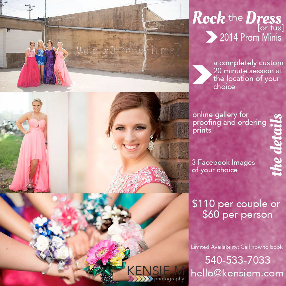 WINCHESTER VIRGINIA PROM PORTRAITS. Prom Poses. On location prom mini sessions. www.kensiem.com | Winchester Virginia Prom Photographer
