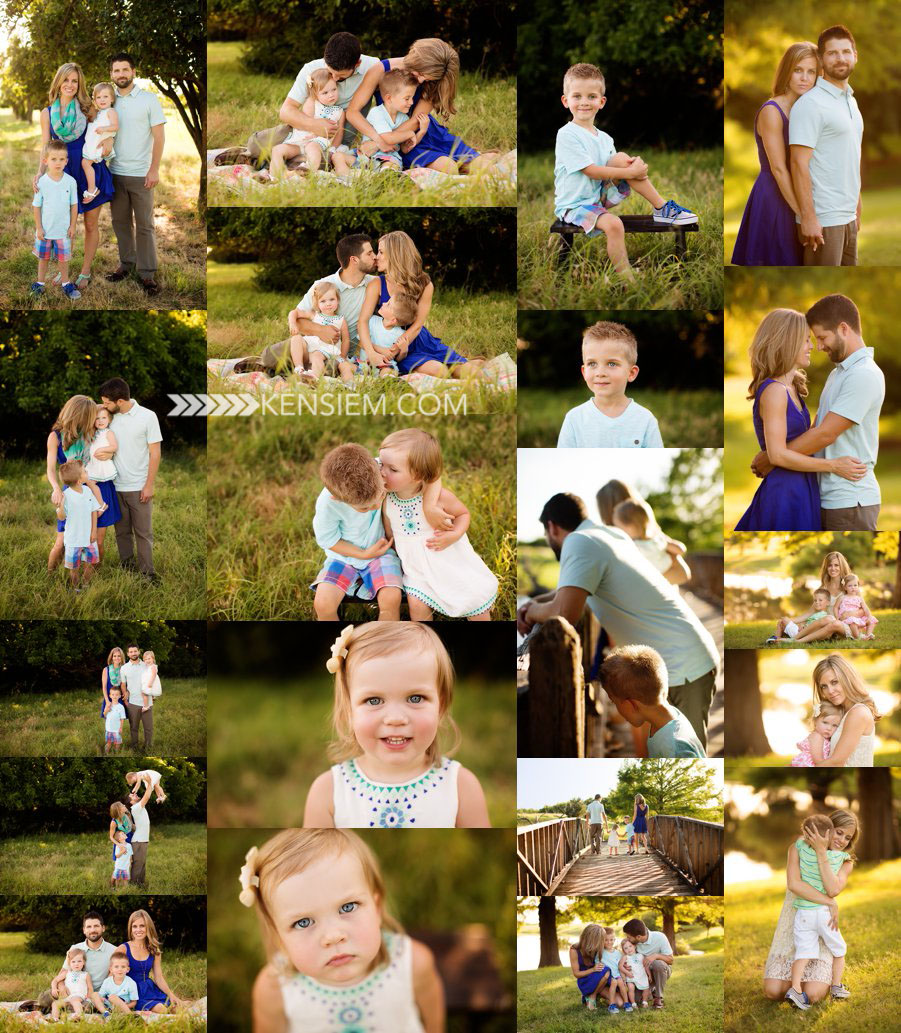 Family Photography. Family of Four Poses. Outdoor family portraits. www.kensiem.com | Winchester VA Family Photographer