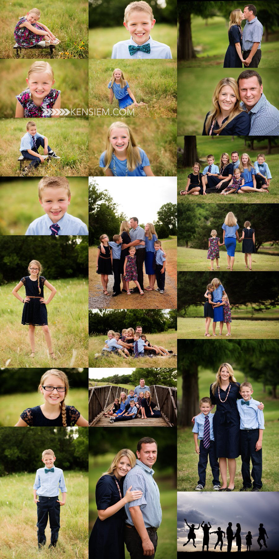 Winchester Virginia Family Photography. Large Family Poses. Outdoor family portraits of large family. www.kensiem.com | Winchester Virginia Photographer