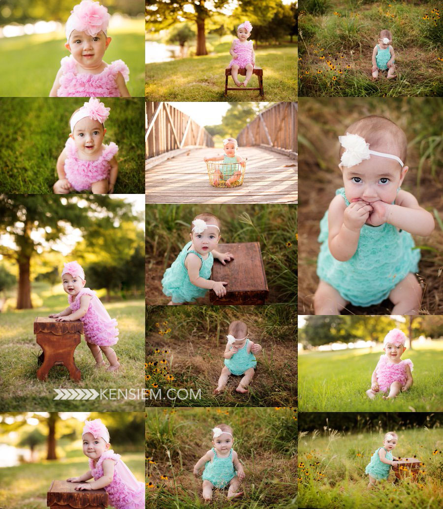 Baby Photography. 6 Month Baby Girl Poses. Outdoor baby portraits of 6 month old. www.kensiem.com | Winchester Virginia Photographer