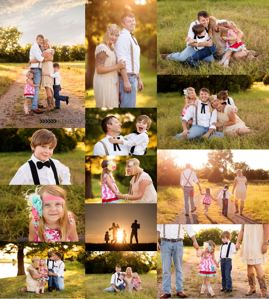 Shenandoah Valley Family Photographer. Family of Four Poses. Outdoor family portraits of family of 4. www.kensiem.com | Shenandoah Valley Family Photographer