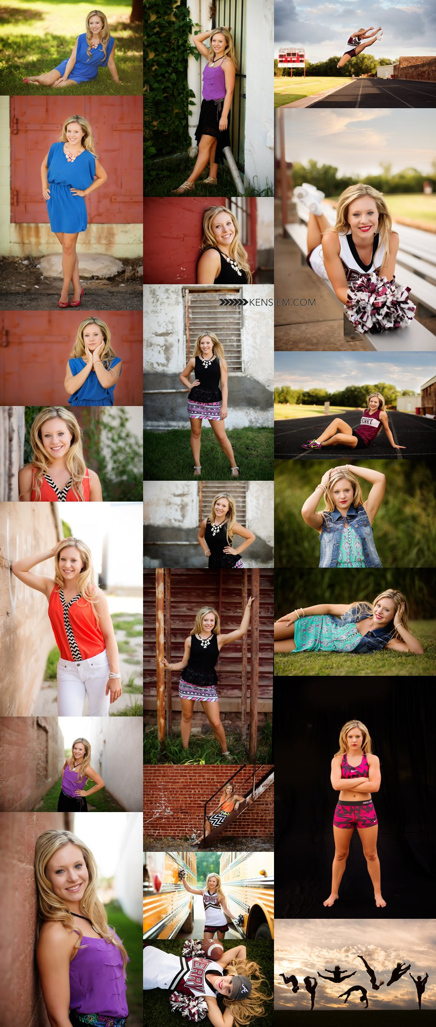 Winchester Virginia Senior Portraits. Senior Girl Poses. Outdoor senior portraits of a gorgeous cheerleader. www.kensiem.com | Winchester Virginia Photographer
