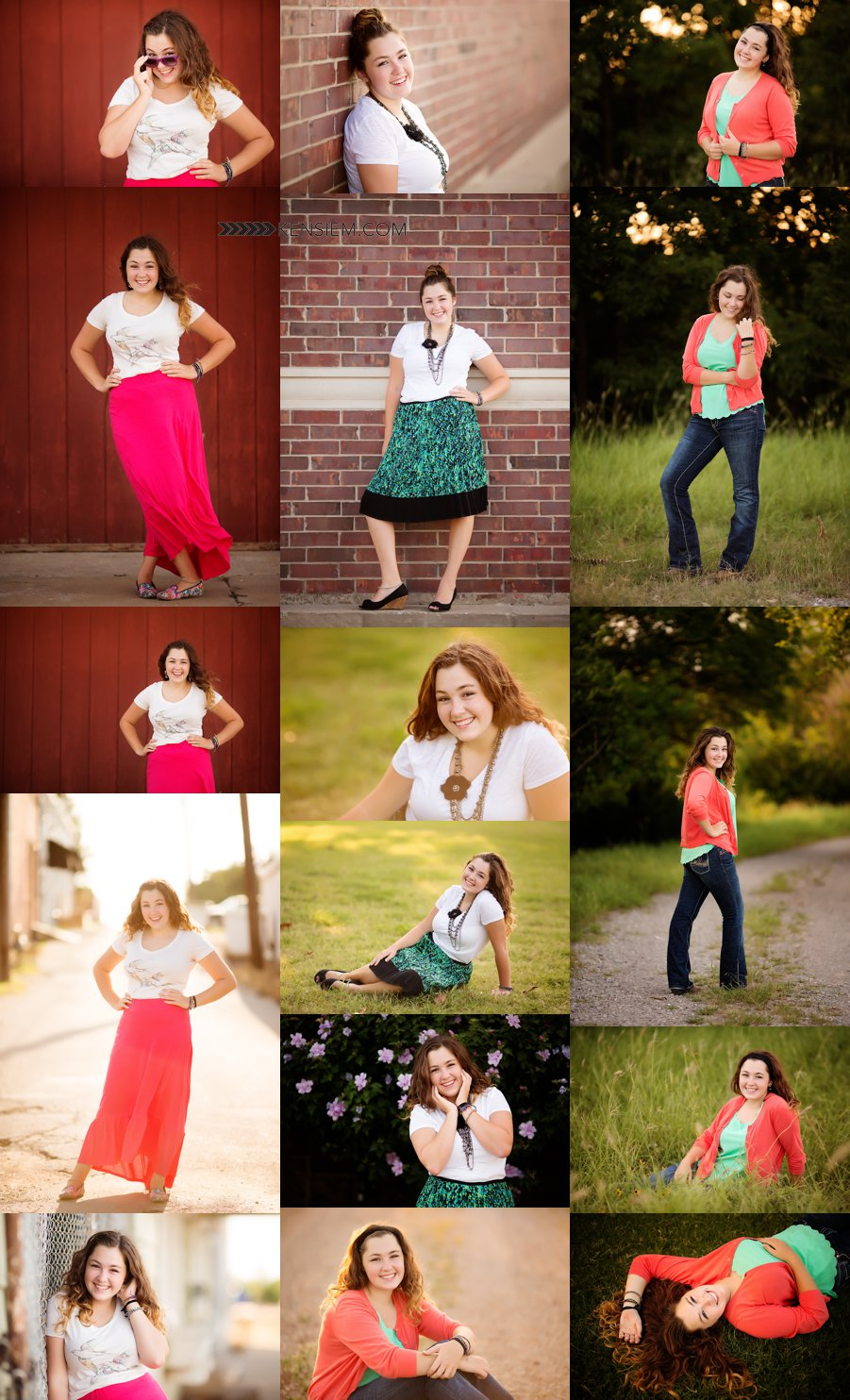 Winchester Virginia Senior Photos. Senior Girl Poses. Outdoor senior portraits of a gorgeous girl. www.kensiem.com | Winchester Virginia Photographer