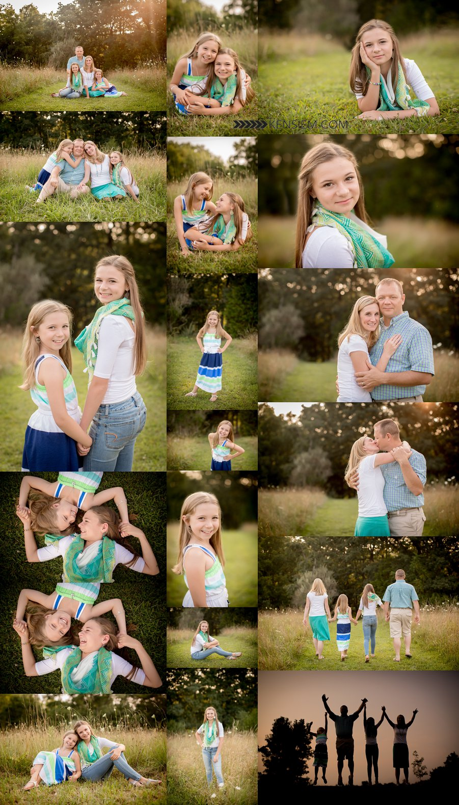 Winchester Virginia Family Photography. Family of Four Poses. Outdoor family portraits of family of 4. www.kensiem.com | Northern Virginia Family Photographer