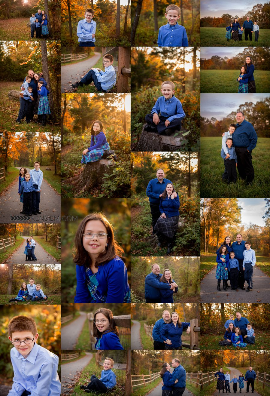 NOVA Family Photographer. Family of Five Poses. Outdoor family portraits of family. www.kensiem.com | Northern Virginia Photographer