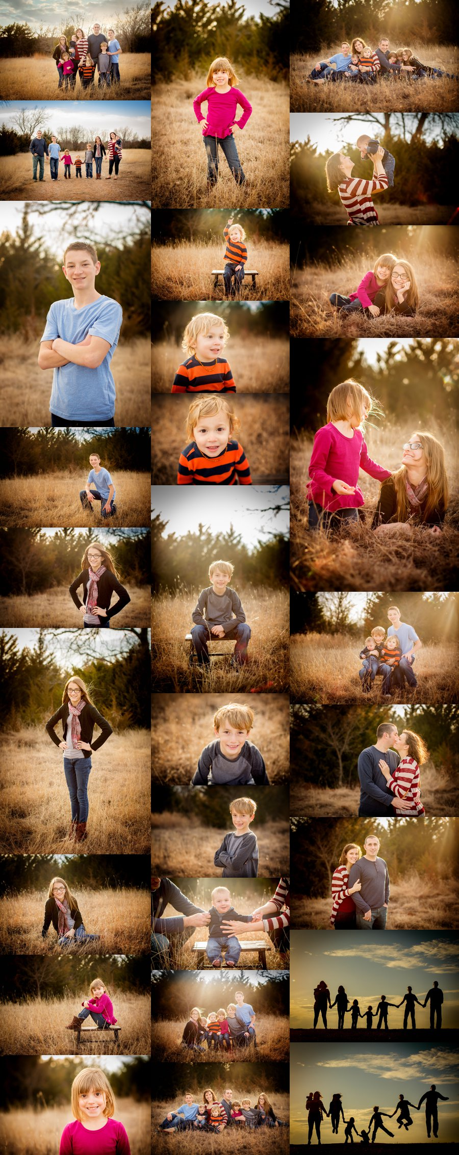 Norther Virginia Family Photographer. Winchester VA Family Photography. Large Family Poses. Outdoor family portraits. www.kensiem.com | Northern Virginia Photographer