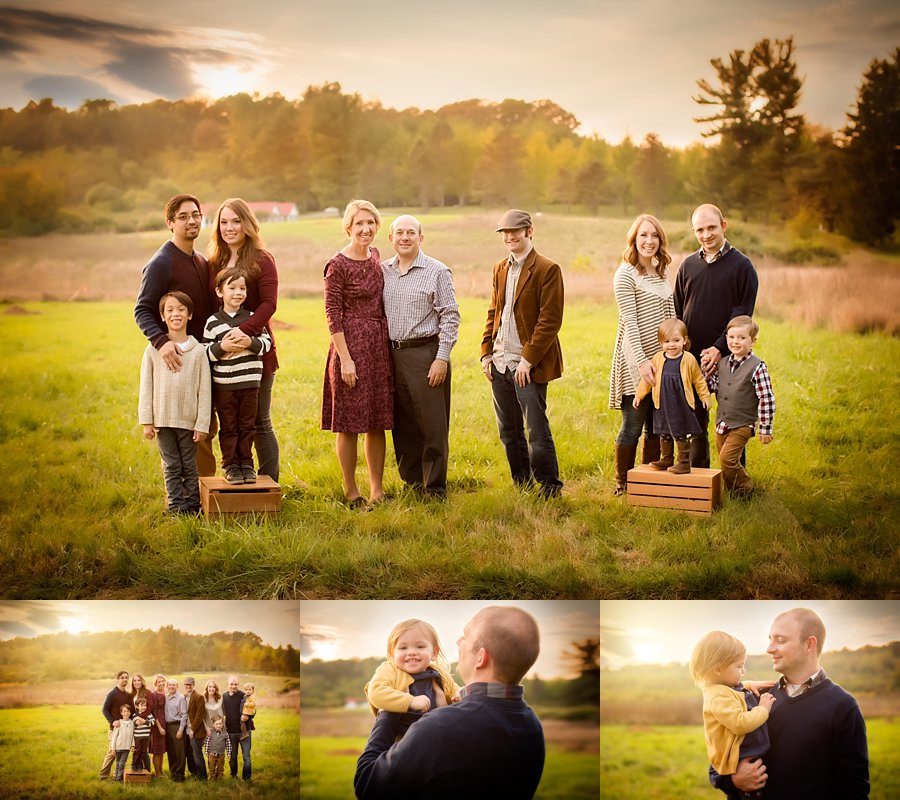 Click to See More! Northern Virginia Family Photography. Winchester VA Extended Family Photographer. Large Family Poses. Outdoor fall extended family portraits. www.kensiem.com | Northern Virginia Photographer