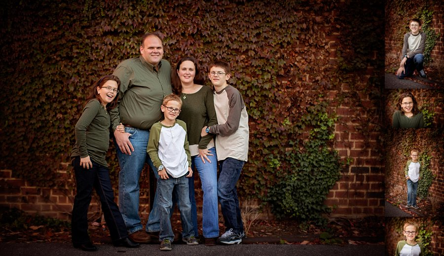 Click to See More! Shenandoah Valley Family Photography. Old Town Winchester VA Family Photographer. Family of Five Urban Poses. Outdoor fall family portraits in urban setting. www.kensiem.com | Northern Virginia Photographer