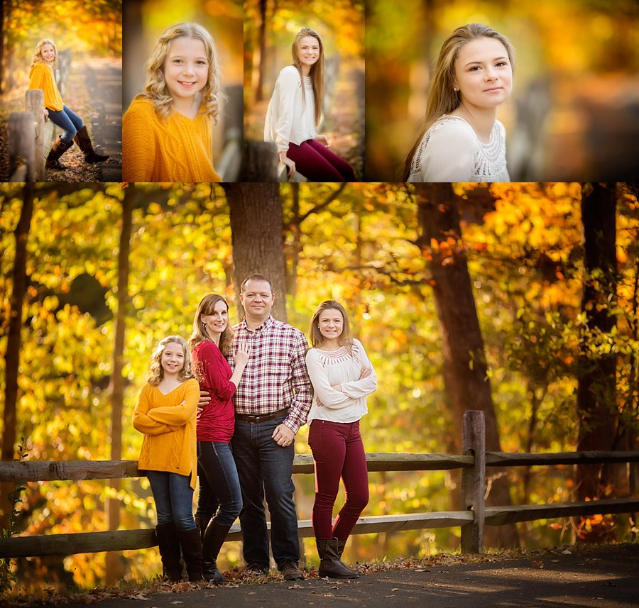 Click to See More! Shenandoah Valley Family Photography. Stephens City VA Family Photographer. Family of Four with Teens Poses. Outdoor fall family portraits. www.kensiem.com | Northern Virginia Photographer