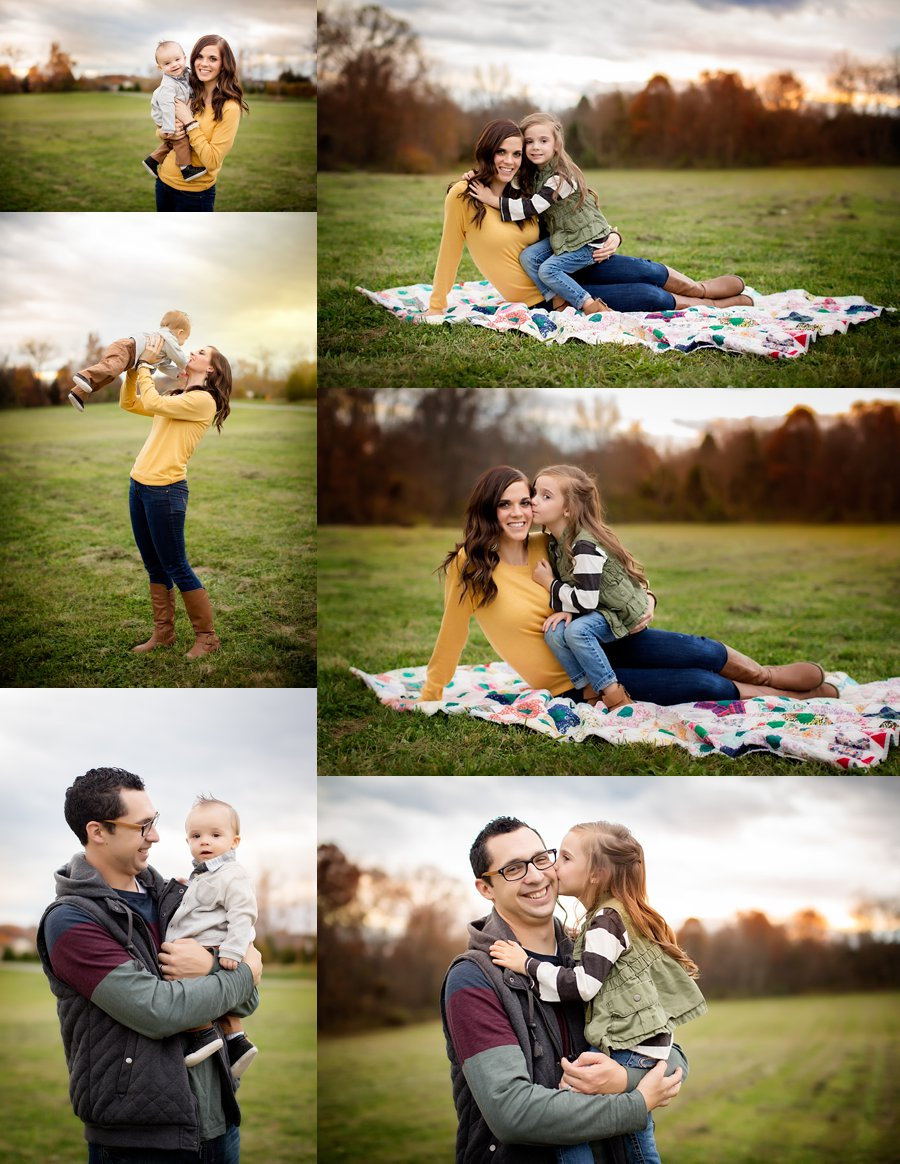 Click to See More! Northern Virginia Family Photography. Stephens City VA Family Photographer. Family of Four Poses. Outdoor fall family portraits. www.kensiem.com | Northern Virginia Photographer