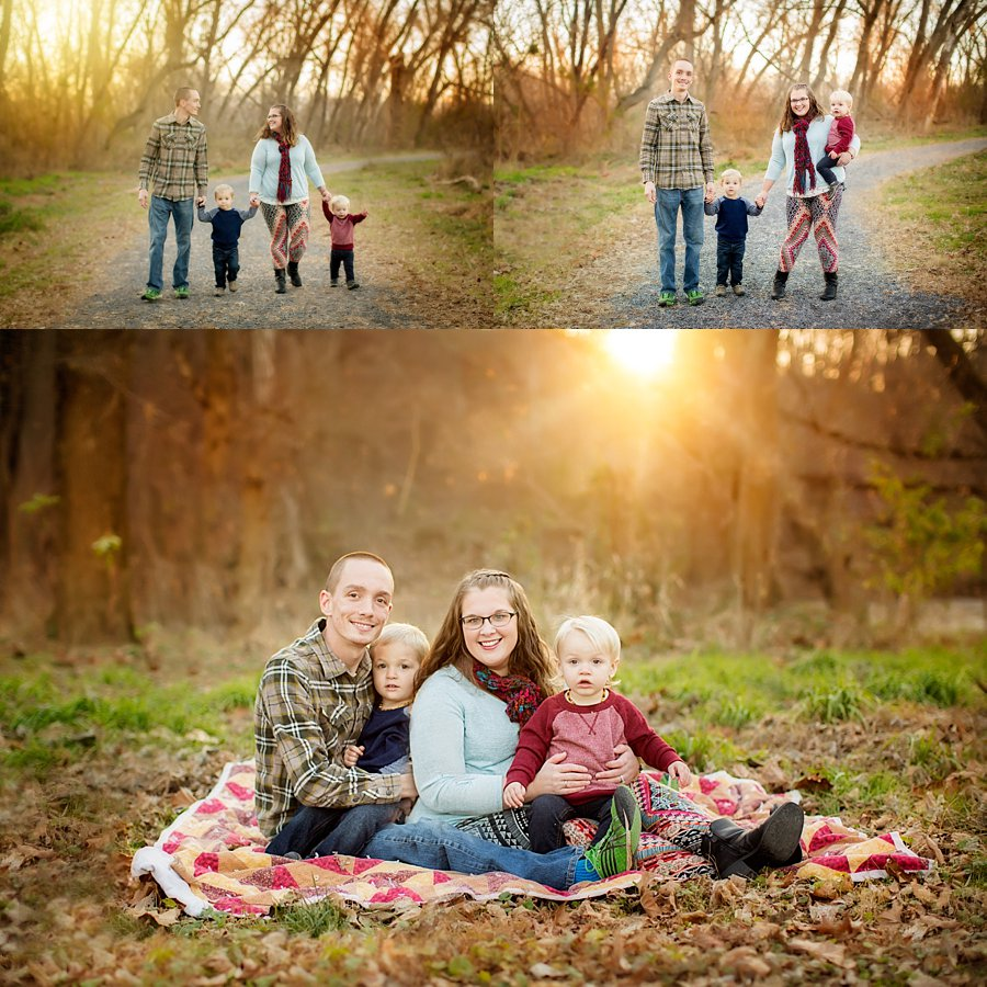 Click to See More! Northern Virginia Family Photography. Strasburg VA Family Photographer. Family of Four Poses. Outdoor fall family portraits. www.kensiem.com | Northern Virginia Photographer