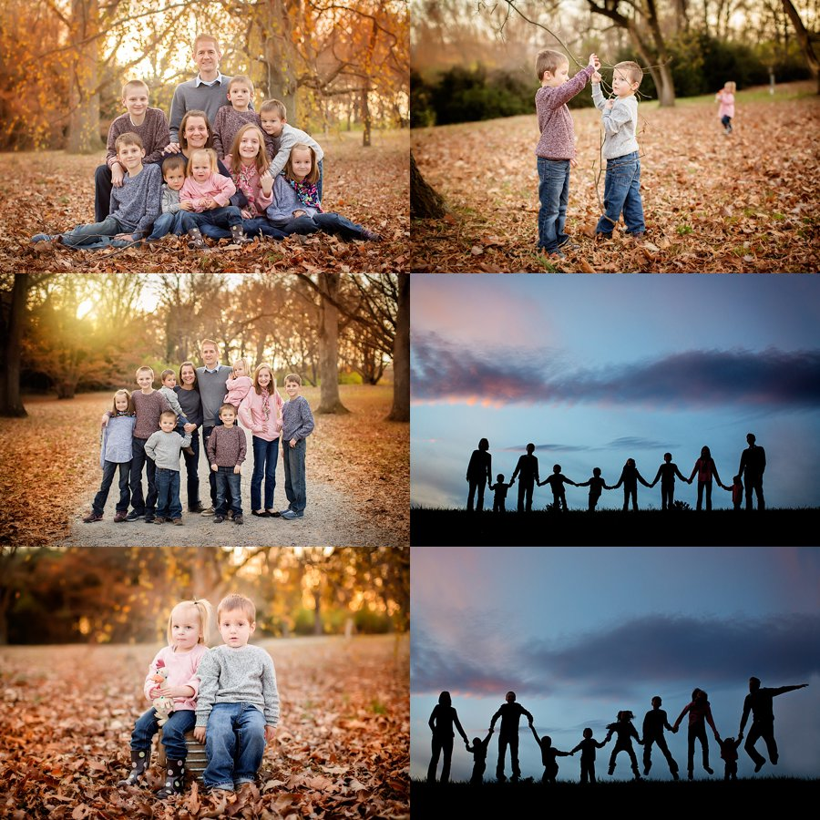Click to See More! Northern Virginia Family Photography. Winchester VA Family Photographer.  Large Family Poses. Outdoor large family with twins portraits. www.kensiem.com | Northern Virginia Photographer