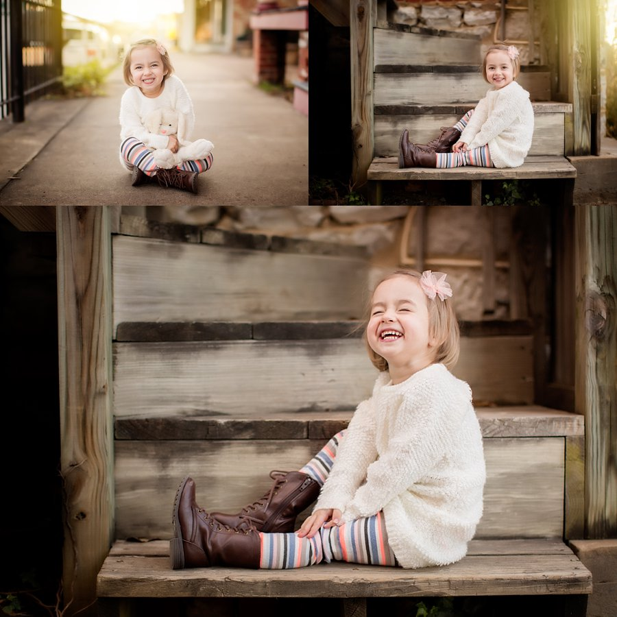 Click to See More! NOVA Children's Photography. Winchester VA Children's Photographer. 3 Year Old Girl Poses. Outdoor children's portraits. www.kensiem.com | Northern Virginia Photographer