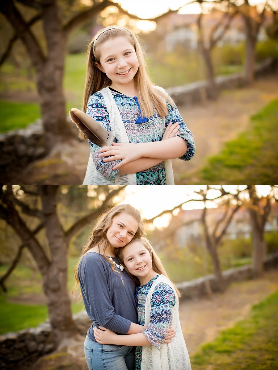 Click to See More! Shenandoah Valley Children's Photography. Winchester VA Children's Photographer. Sister Poses. Outdoor sibling portraits. www.kensiem.com | Northern Virginia Photographer