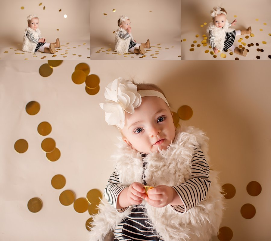 Click to See More! Shenandoah Valley Baby Photography. Winchester VA Family Photographer. 1 Year Old Girl Poses. Studio baby portraits. www.kensiem.com | Northern Virginia Photographer