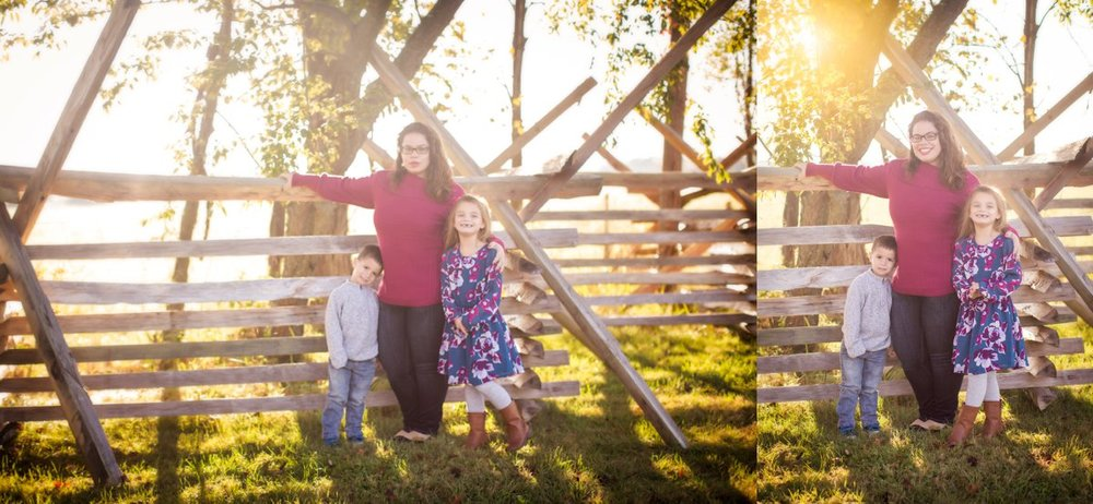 Click to See More! Northern Virginia Family Photography. Winchester VA Family Photographer. Outdoor Fall Session.  Family of 3 Poses. www.kensiem.com | Northern Virginia Photographer