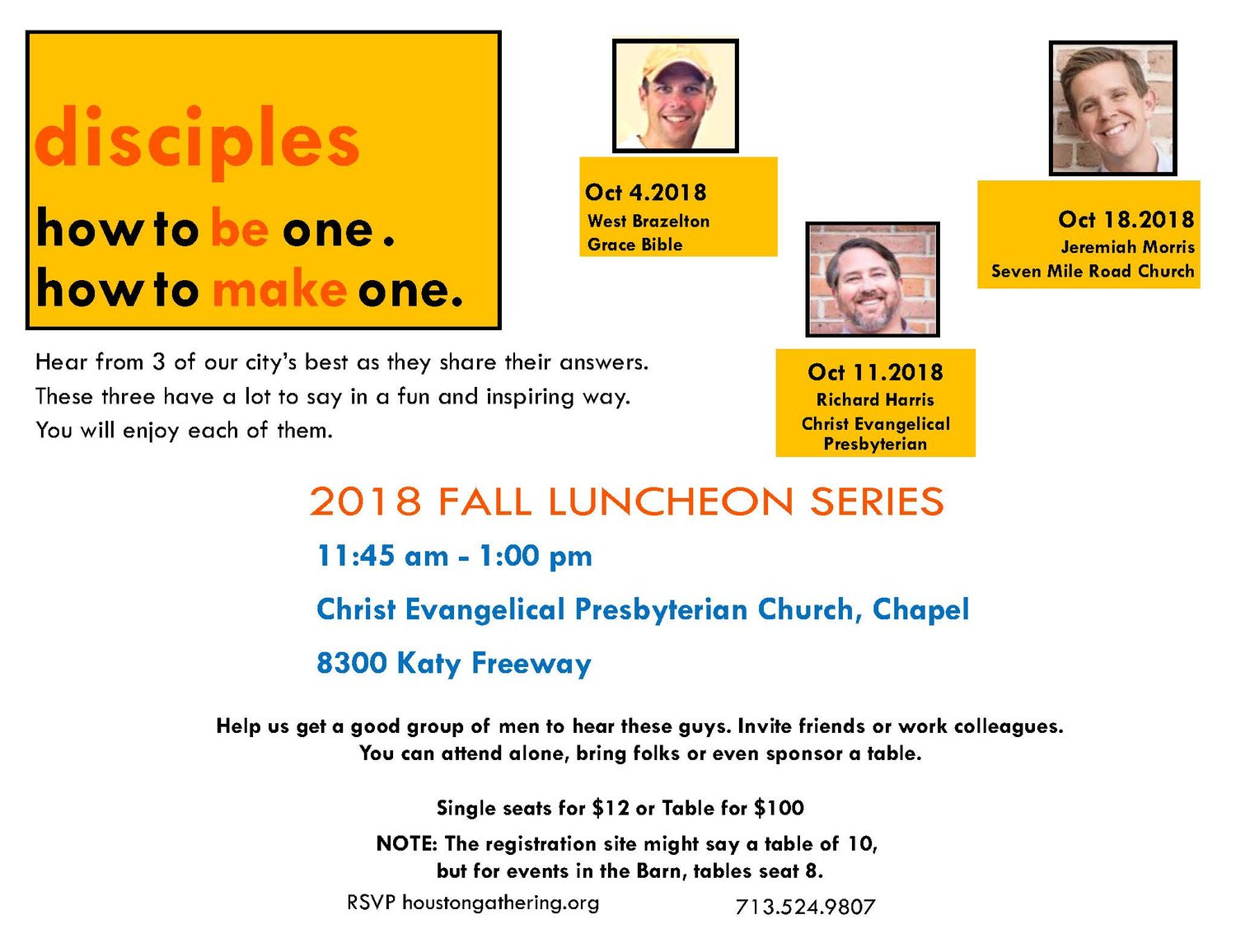 2018 Fall Luncheon Series