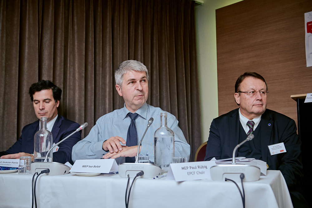 MEP José Inácio Faria,MEP Ivo Belet and MEP Paul Rübig