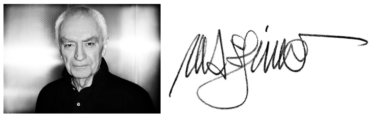 Left:  Portrait Of Massimo, Right: His signature signature