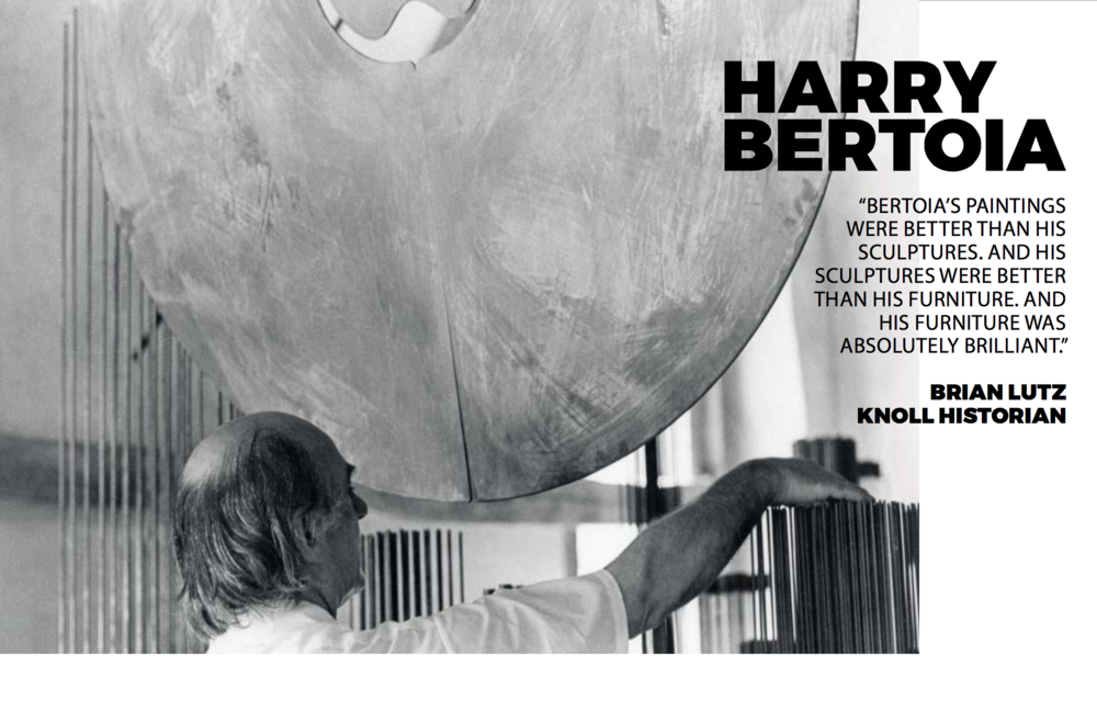 Harry in his studio with one of his famous sound sculptures