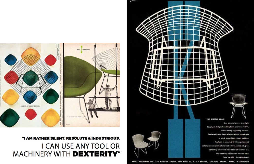 Courtesy of Knoll, Harry Bertoia posters