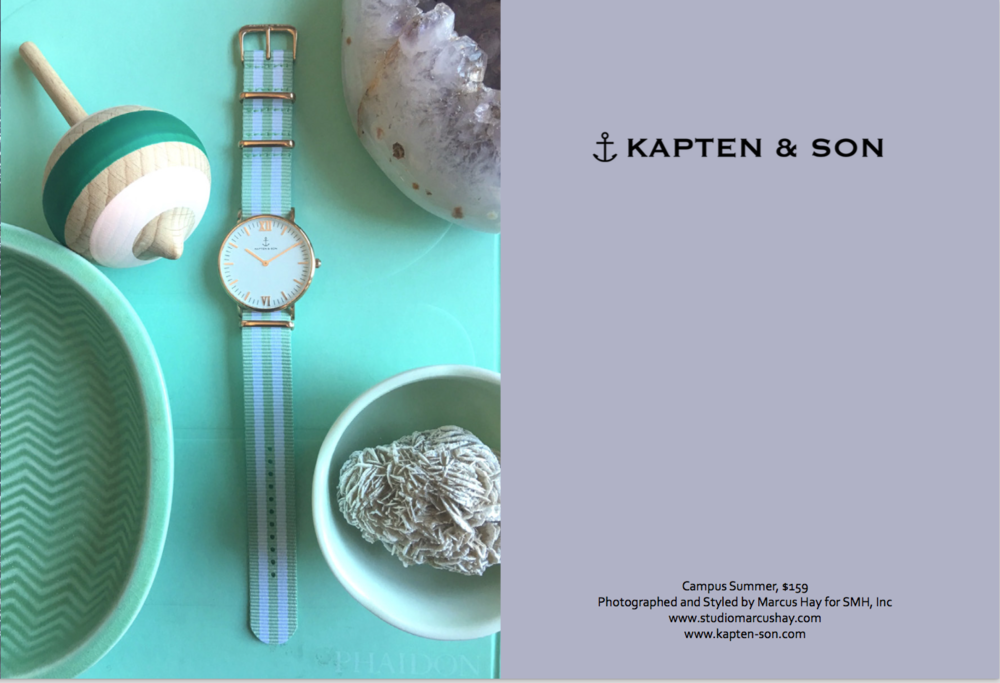 Photography & Styling: Marcus for SMH, Inc, Check out  Kapten & Son  watches here. Inspiration for the styling of this shot came from the cool ice mint summer vibe of this watch. It's fun and playful and oozes a pastel power.