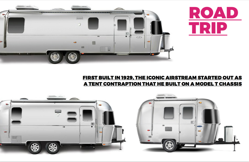 Photo's courtesy of  Airstream  An amazing company based in Jackson Center, Ohio. The founder of the company Wally Byam designed the first Airstream in 1929 and they still evoke stylings of the original design