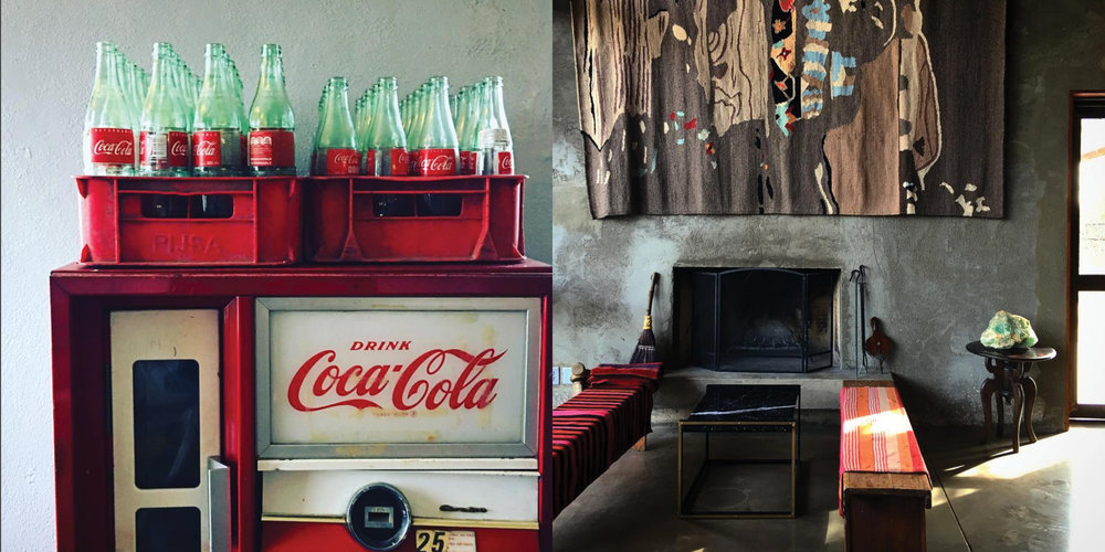Left: Coke bottles at Bad Hombres, Right: Capri Bar, Photography: Marcus Hay for SMH, Inc