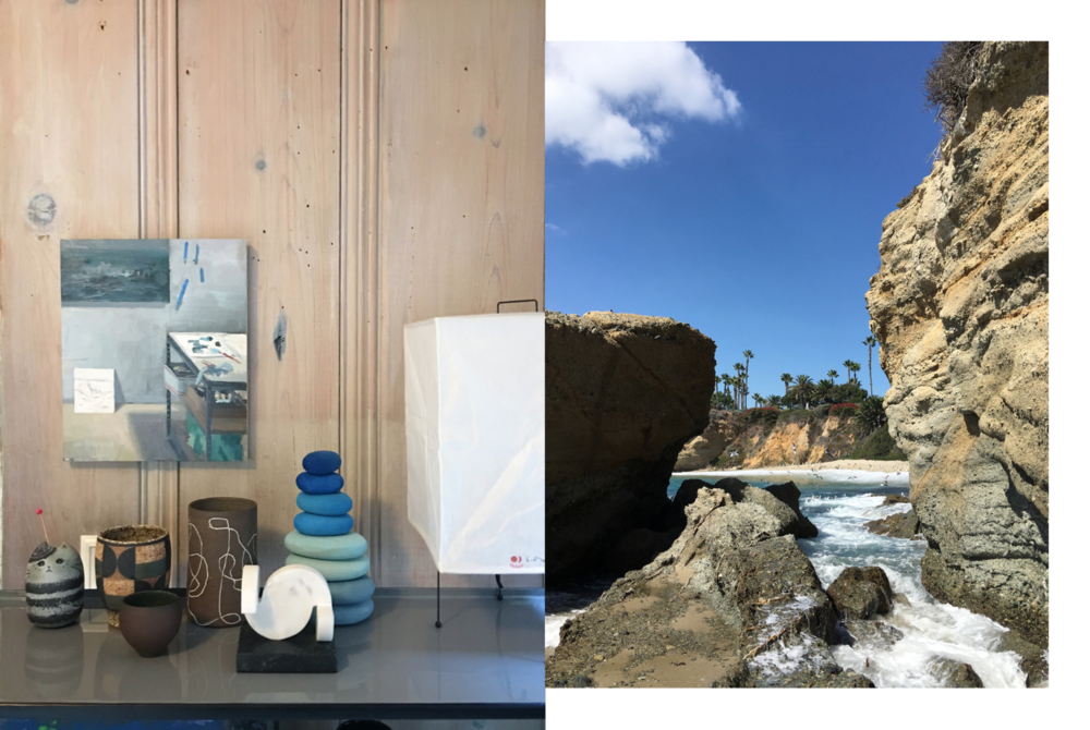 Photography: Marcus Hay, Left: New Home for treasures, Right: Aliso Creek Beach