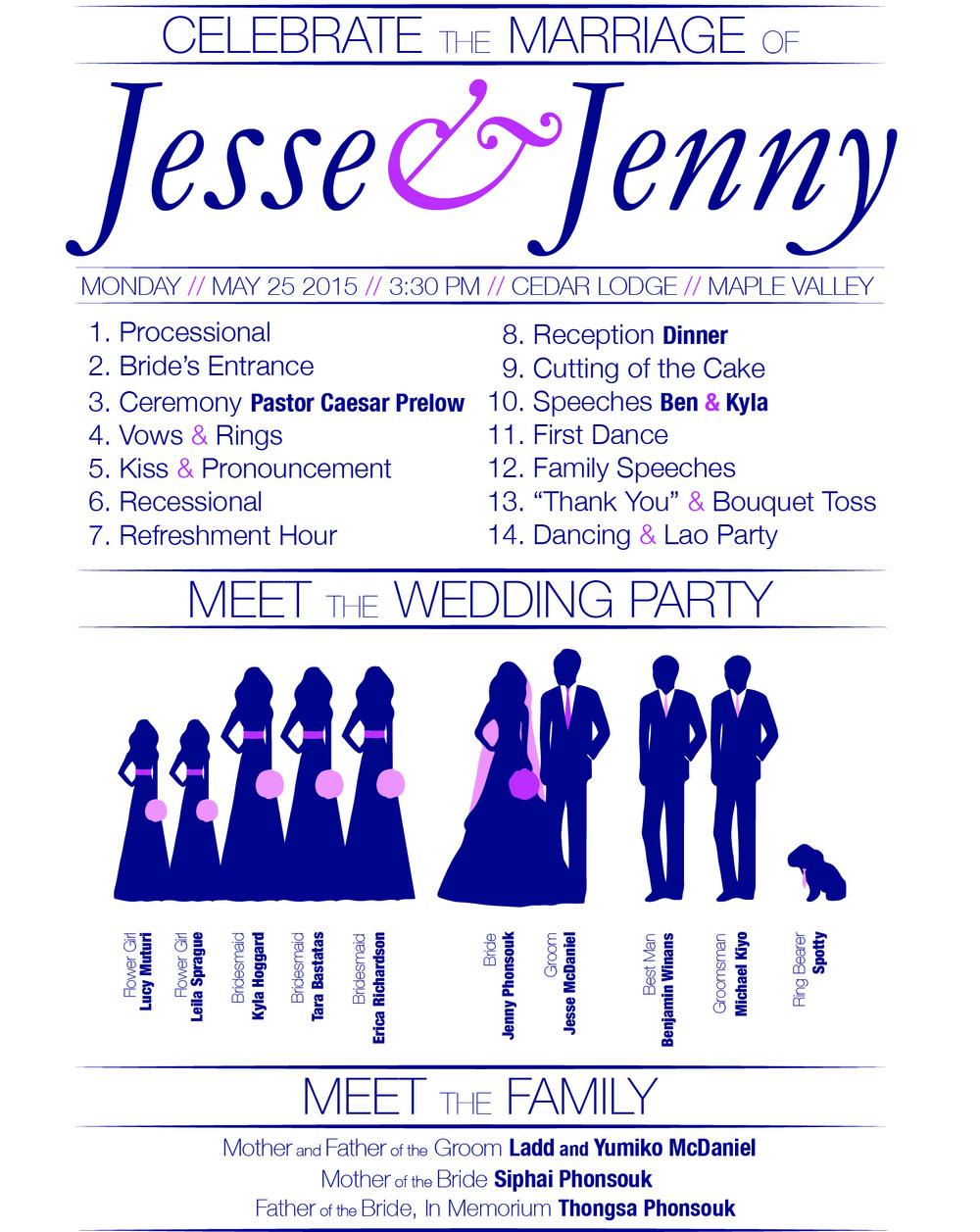 Jesse and Jenny Wedding Program