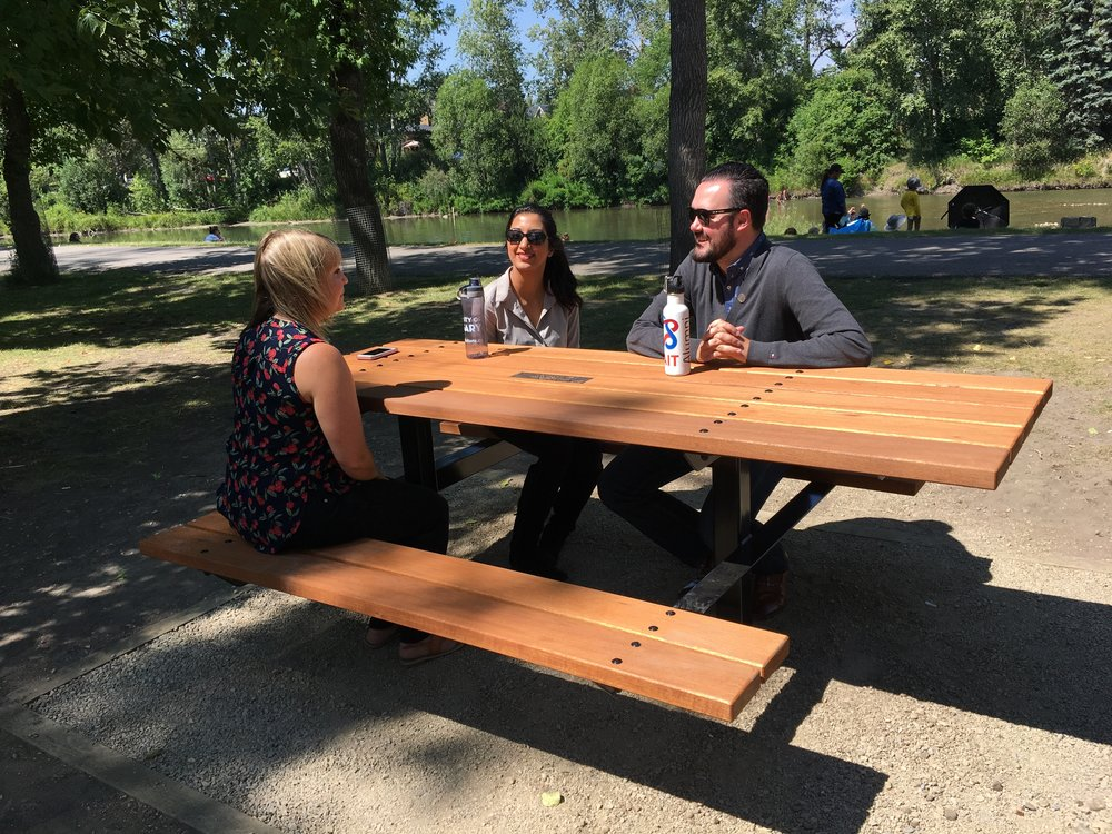 NEW!      Summer 2017:                                                                  DedicationPICNIC TABLES -