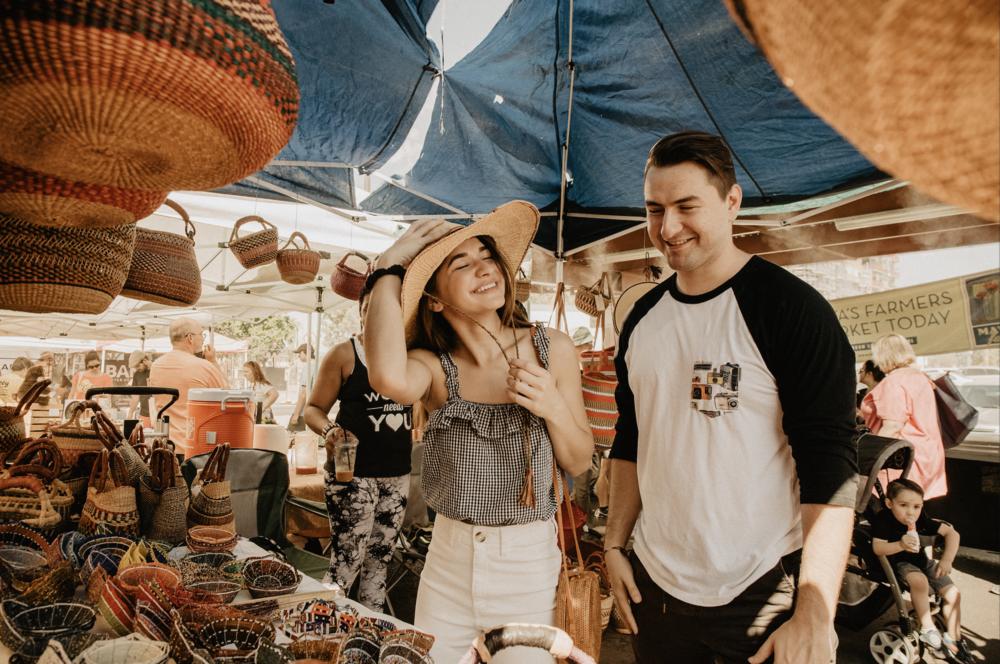 Belle + Andrew, Farmers Market