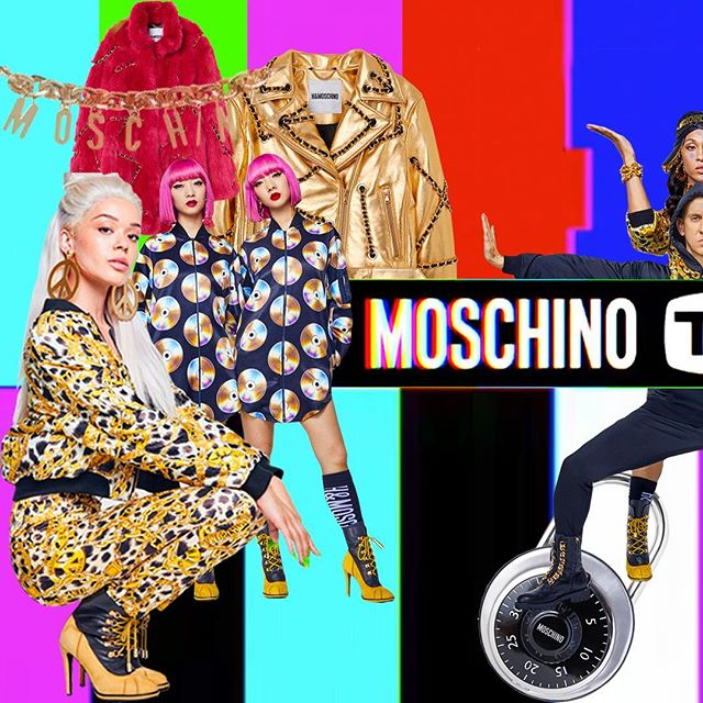 ✨⛓Style Council is loving the debut of  MOSCHINO [tv] H&M collaboration! Gold chains, Disney Characters, leather lockbags, sequined hooded dress galore!  this playful, vibrant assortment has us thinking about our own status print line, take a look if your feeling bold ✨⛓ . . . . . #moschino#minniemouse#mickey#mouse#h&m#fashion#color#studio#textiles#design#jeremyscott#hmoschino#couture#collage#trending#nyc#la#print#style#