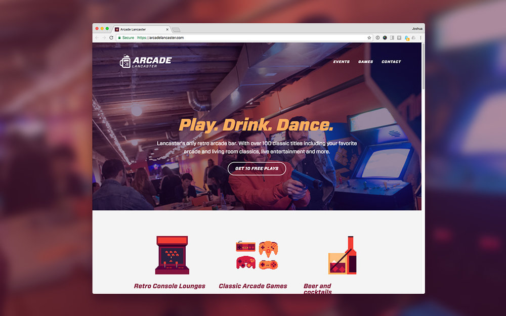 Squarespace site for Arcade Lancaster. Huge thanks to Matthew Tennison for capturing the featured photo during AIGA's Pens and Pints w/MIkey Burton.