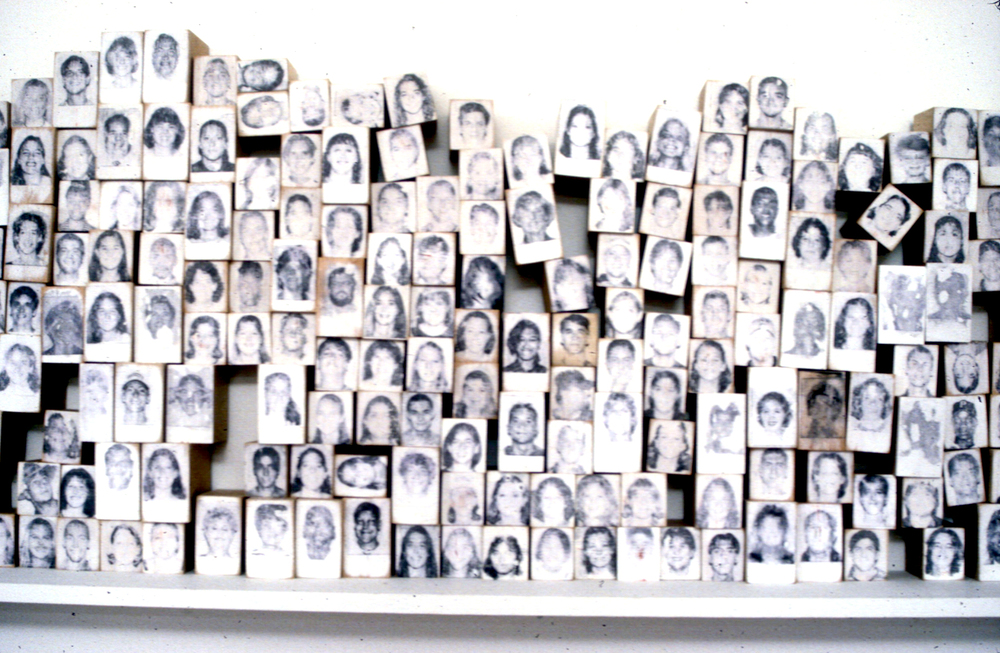 detail, Every Body 1997, laser print tranfers on 635 blocks, dimensions variable